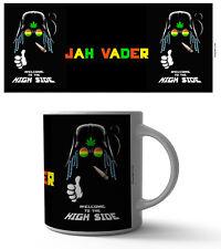 JAH VADER 11 OZ COFFEE MUG HIGH WEED GANJA SMOKE FUNNY HERBAL STARWARS JAMAICA!!