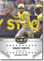 "BRADY WHITE 2015 LEAF ""1ST EVER PRINTED"" HIGH SCHOOL ARMY ROOKIE CARD!"