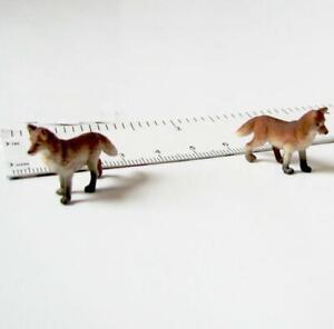 Doll House Shoppe 3 Toy Fox Figures 11959 Micro-Mini Miniature