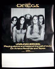 DIXIE DREGS Unsung Heroes Tour Blank Promo Poster Mint- 1981 Rare ORIGINAL!