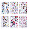 3D Butterfly Nail Stickers Waterproof Nail Art Design DIY Decal Flower Decors UK