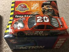 NASCAR signed tony stewart home depot jurassic park 1/24 scale stock car