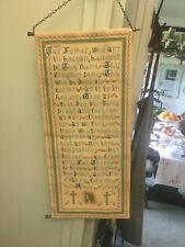 Vintage  Lords Prayer in Needlepoint scroll 19 x 9 inches -wall hanging
