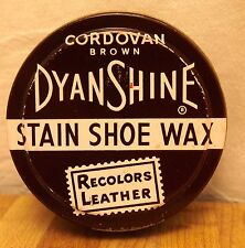 DYNASHINE DYNA SHINE STAIN SHOE WAX - POLISH - CORDOVAN BROWN - MADE IN USA