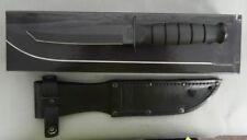 KA-BAR KNIFE 1254 SHORT KABAR BLACK TANTO LEATHER NEW IN BOX USA MADE!!