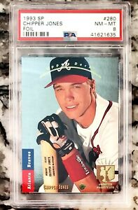 Chipper Jones 1993 Upper Deck Foil SP RC PSA 8