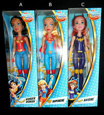LOTTO  SUPER HERO GIRLS BARBIE SIZE wonder woman, supergirl, batgirl NUOVE