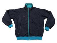 Vintage Columbia Blue Teal Reversible Ski Coat Jacket Thinsulate Large Mens