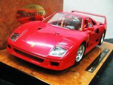 WOW EXTREMELY RARE Ferrari F40 V8 Turbo 1987 Red Wooden 1:18 B burago/ Executive