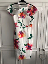 White Floral Drop Sleeve Dress - Size 8 UK - Brand New - Wedding, Prom, Races