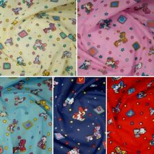 Polycotton Fabric Children Patched Toys Rabbit Giraffe Teddy Bear Craft Material