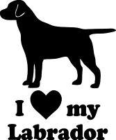 I LOVE MY LABRADOR Vinyl Sticker - Retriever Dog Puppy Straight - Die Cut Decal