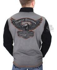 Harley-Davidson Mens Winged Trademark B&S Pullover Black Sweatshirt 99009-17VM
