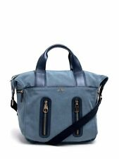 HOGAN WOMEN'S BLUE CANVAS LEATHER 'TREND' HANDBAG TOTE RRP£430 SEE DETAILS