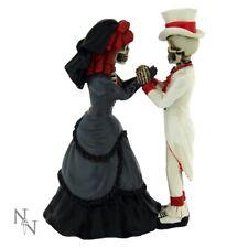 Bride & Groom DEVOTED TO YOU Skeletons Skull Wedding Figurine Cake topper Gothic
