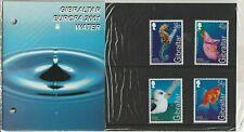 GIBRALTAR 1 FEBRUARY 2001 EUROPA WATER PRESENTATION PACK