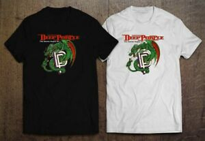Deep Purple Cover The Battle Rages On Men's Black and White T-shirt Size S-2XL