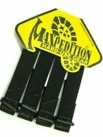 "Maxpedition 3"" TacTie Attachment MOLLE Strap Tactical PALS Equipment 4pk BLACK-"
