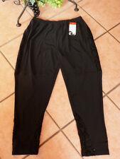 Magna leggings con encaje 40 42 nuevo negro Stretch Lagenlook