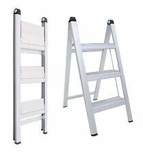 INDALEX Aluminium Slimline Ladder 3 Steps 0.8m