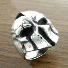 Spartan Helmet Warrior Skull Stainless Steel Men's Ring Vintage Punk Rock Biker