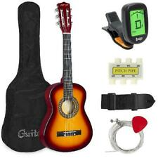 "Kids Acoustic Guitar 30"" Beginners Set Carry Bag, Picks, E-Tuner, Strap 4 Colors"