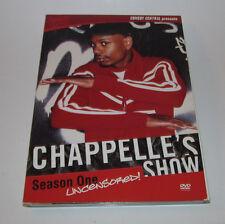 Chappelle's Show - Season 1 Uncensored (DVD, 2004, 2-Disc Set) Good Shape