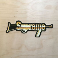Supreme gold gun rifle NRA vinyl sticker skateboard decal bumper box logo USA