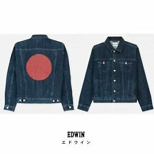 *NEW* EDWIN RED LISTED High Road Jacket. Dark Selvage Denim. Size Medium