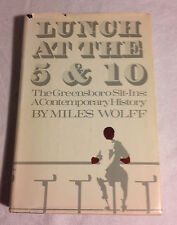 Lunch at the Five and Ten by Miles Wolff (Hardcover, 1970, Very Good, 1st Edtn.)