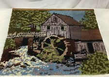 """Grist Mill Rustic Rug Hand Crafted Latch Hook Wall Hanging Rug 30"""" X 35"""""""