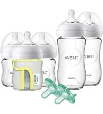 New listing Philips Avent Natural Glass Baby Bottle Gift Set Scd201/01 - New