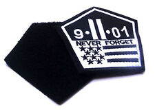 9-11-01 NEVER FORGET Morale Patch Us Military Tactical Twin Towers Badge Patch