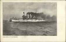 US Navy Battleship New Hampshire c1908 Postcard