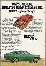 1976 DATSUN B-210 advertisement, DATSUN ad, B210 hatchback
