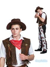 N2 Teenages Mens Cowboy Western Fancy Dress  Stag Party Sheriff Rodeo Costume