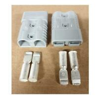 120 amp Anderson Style Plug Pair with Terminals 120amp Grey Solar Dual Battery