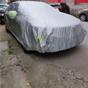 3L Full Car Cover for Outdoor Sun Dust Scratch Rain Snow Waterproof Breathable