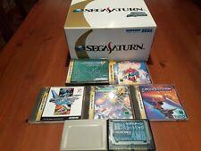 SEGA SATURN SKELETON CONSOLE LIMITED EDITION .. RARE! + GAMES