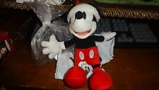 "DISNEY PARKS 7"" SIMPLE SANTA MICKEY MOUSE PLUSH DOLL TOY NWT CHRISTMAS PIE EYED"