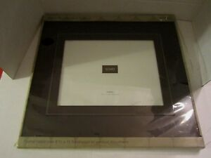 """NEW! Document Frame. Leather & Dark Faux Wood. 8-1/2""""x11"""" opening. 14""""x16""""."""