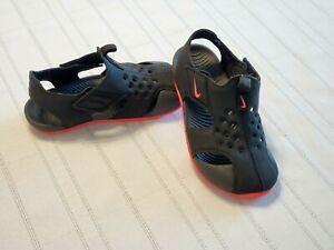 Nike Sunray Protect 2 TD Black Toddler Girl's Shoe size 9c Sandal Slip On