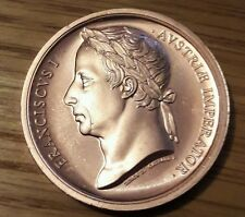 THE BATTLE OF WATERLOO SOLID BRONZE MEDAL- ''EMPEROR FRANCIS  I''