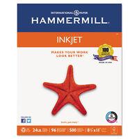 Hammermill Inkjet Paper, 96 Brightness, 24lb, 8-1/2 x 11, White, 500 Sheets/Ream