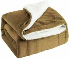 Sherpa Fleece Throw Blanket for Sofa Bed Flannel Plush Blanket Soft Warm Throws