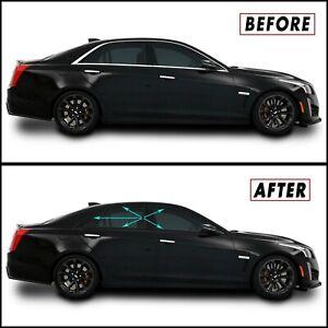 Chrome Delete Blackout Overlay for 2014-19 Cadillac CTS Sedan Window Trim