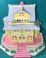 Polly Pocket Clubhouse Birthday Party Pop Up House HUGE LOT Victorian Dollhouse