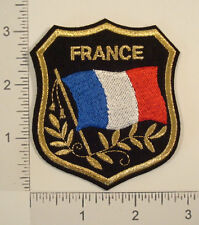 FRANCE FLAG Shield Embroidered Travel Souvenir PATCH