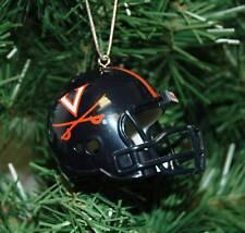 University of Virginia Football Helmet Christmas Ornament