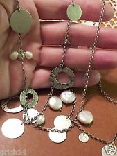 """Silpada Sterling Silver 36"""" Long Chain """"Pearl of a Girl"""" Necklace N2197 $179"""